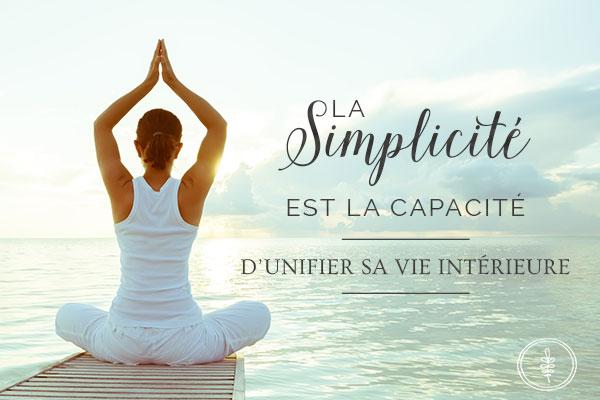 simplicité de vie